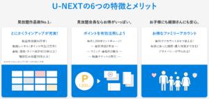 U-NEXT(特徴)